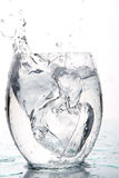 Splash Water With Ice Box Royalty Free Stock Photo