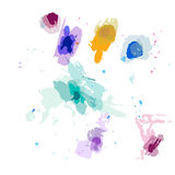 splash, watercolor, stains, strokes, texture, vector Royalty Free Stock Image