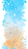 Splash watercolors. Watercolor template for writing text Royalty Free Stock Photo