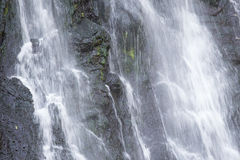 Splash of waterfall in tropical rain forest Royalty Free Stock Photos
