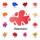 splash of watermelon icon. Detailed set of color splash. Premium graphic design. One of the collection icons for websites, web vector illustration