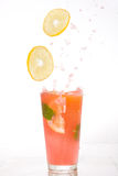 Splash of watermelon mojito Royalty Free Stock Photos