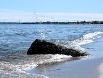 Splash 01. Wet stone and the splash Stock Photo