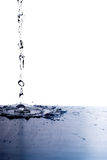 Splash on white. Splash isolated on white. Water is like a waterfall royalty free stock photo