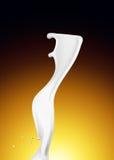 Splash of white fat milk as design element Stock Photos
