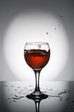 Splash of wine Royalty Free Stock Image