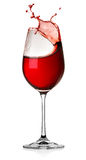 Splash wine isolated Royalty Free Stock Image