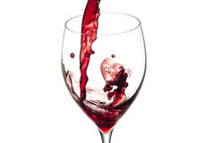 Splash of wine isolated on white Stock Photos