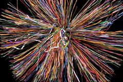 Splash of wires Royalty Free Stock Photos
