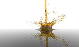 Splash of yelow liquid Stock Photo