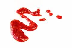 Splashe томатного соуса изолированное на белой предпосылке Стоковые Фотографии RF