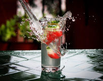 Splashed drink Royalty Free Stock Photo