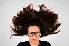 Splashed hair Royalty Free Stock Photo