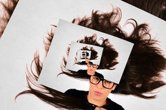 Splashed hair Stock Photography