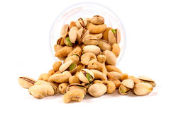 Splashed Nuts Mix Royalty Free Stock Images