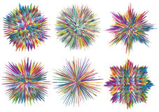Splashes. Set of vector paint splashes which can be rearranged in hundred different ways Stock Photos