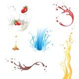 Splashes. 6 highly detailed splash icons Stock Image