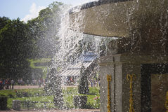 Splashes. Fine drops of fountain water Stock Photography