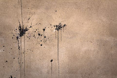 Splashes of black paint Stock Images
