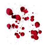 Blood splashes. Vector image isolated on a white background. Splashes of blood. Vector image isolated on a white background Royalty Free Stock Image