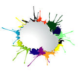 Splashes of bright paint Stock Photography