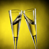 Splashes of champagne Royalty Free Stock Images
