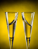 Splashes of champagne Royalty Free Stock Image