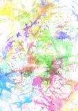 Splashes a coloré la peinture Photographie stock libre de droits