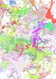 Splashes a coloré la peinture Images stock
