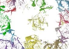 Splashes a coloré la peinture Photos libres de droits