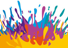 Splashes of color. Illustration with splashes and drops of color Royalty Free Stock Photos