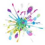Splashes of Colorful Ink Royalty Free Stock Photo