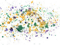 Splashes of colorful watercolor on a white background Stock Photos