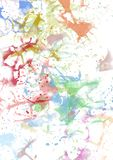 Splashes colored paint. Splashes of colors on a white background. Abstract for design, multicolored paint and lacquer Stock Images