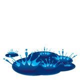 Splashes of drops Royalty Free Stock Images