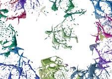 Splashes färbte Farbe Stockbild