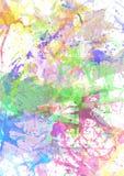 Splashes färbte Farbe Lizenzfreie Stockfotografie