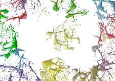 Splashes färbte Farbe Lizenzfreie Stockfotos