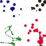 Splashes of ink Royalty Free Stock Photo