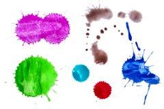 Splashes of paints Royalty Free Stock Photo