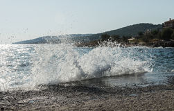 Splashes of sea water in summer Stock Photos