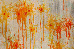 Splashes and spots of paint on the wall Royalty Free Stock Photography