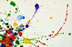 Splashes of watercolor Royalty Free Stock Photos