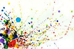 Splashes of watercolor Royalty Free Stock Photography