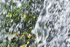 Splashes of the waterfall. Splashes of a waterfall that vigorously scatters Royalty Free Stock Photography