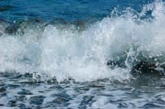 Splashes of the wave of the black sea. royalty free stock images
