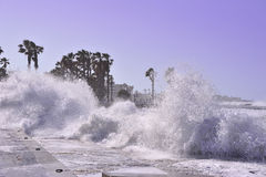 Splashes and waves Stock Photography
