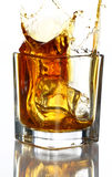 Splashes of whiskey Stock Photography