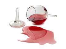 Splashes wine Stock Images