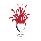 Splashes of wine or juice from a glass Royalty Free Stock Images